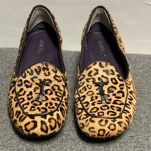 Vanelli Leopard Cheetah Animal Fur Wedge Loafer 8